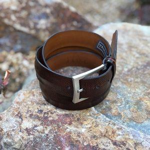 NW Men's TRAFALGAR 🇺🇸 Made Leather Belt, 40/100